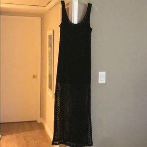 Long summer black dress